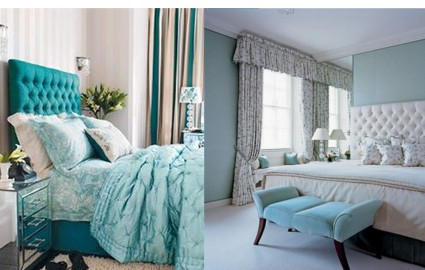 turquoise in the bedroom all about home